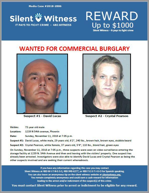 Burglary / 1239 N 54th avenue, Phoenix (Storage Facility)