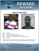 Credit Card Theft / 4139 West Indian School Rd, Phoenix