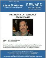 Missing Person – Suspicious Circumstances – Mark Shearer