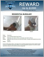 Residential Burglary / Area of 1500 W. Osborn Rd