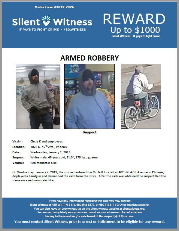 Armed Robbery / Circle K 4023 N. 47th Ave