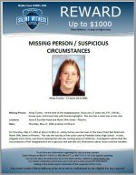 Missing Person – Suspicious Circumstance – Alissa Turney