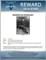 Residential Burglary / Area of 700 E. Alta Vista Rd., Phoenix