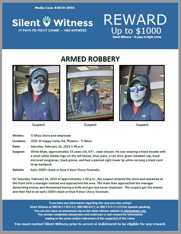 Armed Robbery / TJ Maxx Store / 2501 W. Happy Valley Rd, Phoenix