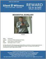 Residential Burglary / Area of 2700 W. Broadway Rd.