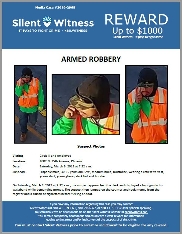 Armed Robbery/ Circle K / 1002 N. 35th Avenue, Phoenix