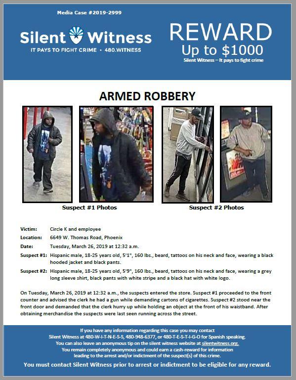Armed Robbery / Circle K / 6649 W. Thomas Road, Phoenix