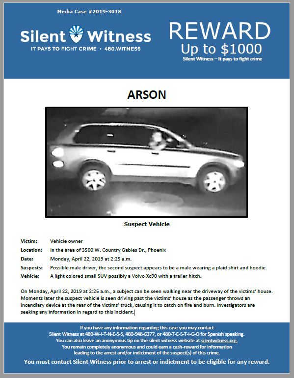 Arson / In the area of 3500 W. Country Gables Drive