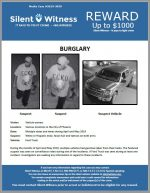Burglaries from vehicles / Various Locations