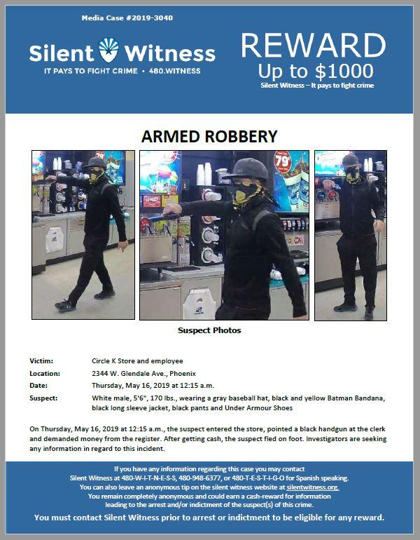Armed Robbery / Circle K / 2344 W. Glendale Ave., Phoenix