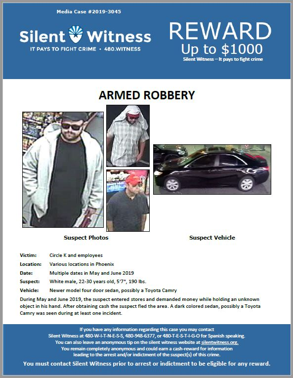 Armed Robbery / Circle K / Multiple locations in Phoenix