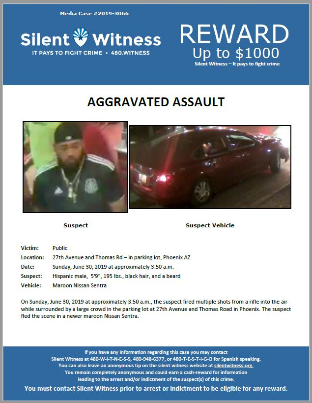 Aggravated Assault / 27th Ave. and Thomas Rd. in parking lot