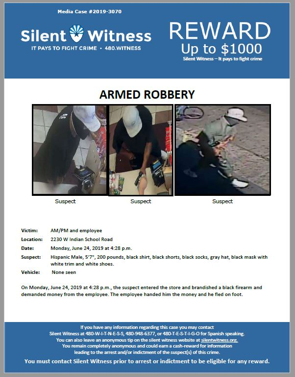 Armed Robbery / AM/PM / 2230 W Indian School Road