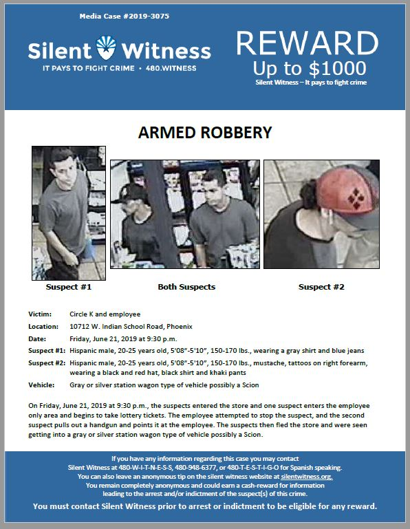 Armed Robbery / Circle K / 10712 W. Indian School Road, Phoenix