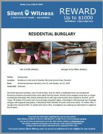 Residential Burglary / Residence in the area of Chandler Blvd and Kyrene Road, Chandler