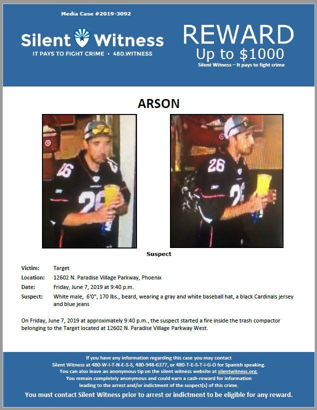 Arson / Target 12602 N. Paradise Village Parkway W
