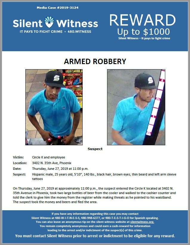 Armed Robbery / Circle K / 3402 N. 35th Avenue