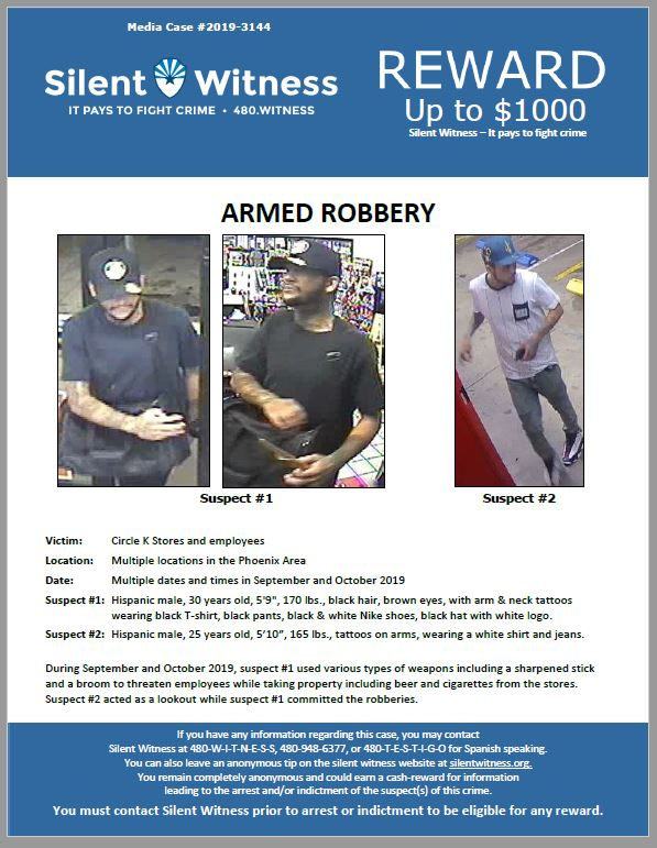 Armed Robbery / Multiple Circle K Stores / Phoenix
