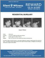 Residential Burglary / In the area of 5400 South 46th Street, Phoenix