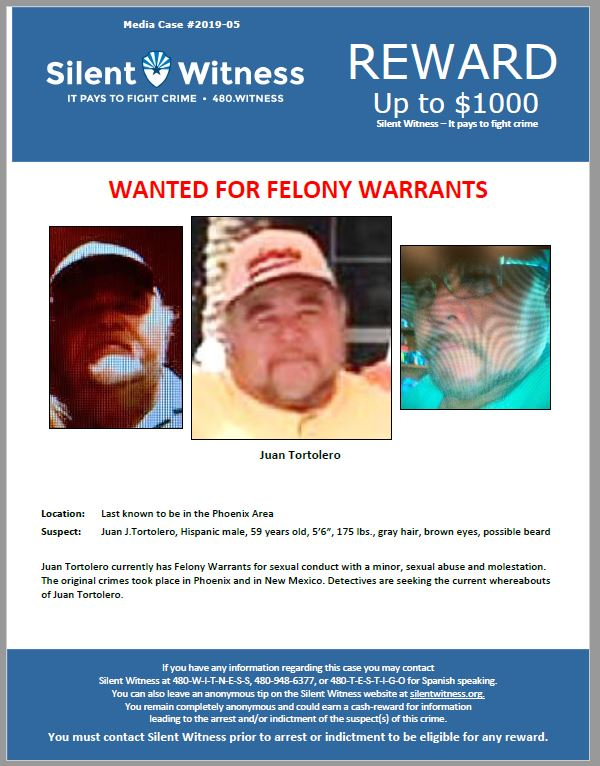 Juan J. Tortolero / Last known to be in the Phoenix Area