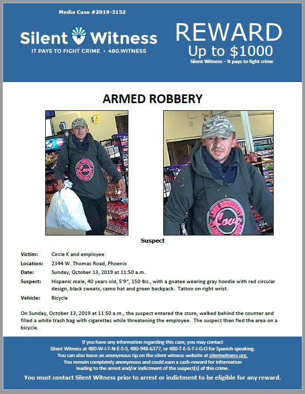 Armed Robbery / Circle K 2344 W. Thomas Road, Phoenix