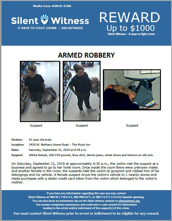 Armed Robbery / 2420 W. Bethany Home Road