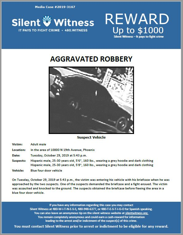 Aggravated Robbery / In the area of 10000 N. 19th Avenue, Phoenix