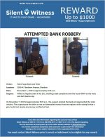 Attempted Armed Robbery / Wells Fargo Bank / 5300 W. Northern Avenue, Glendale