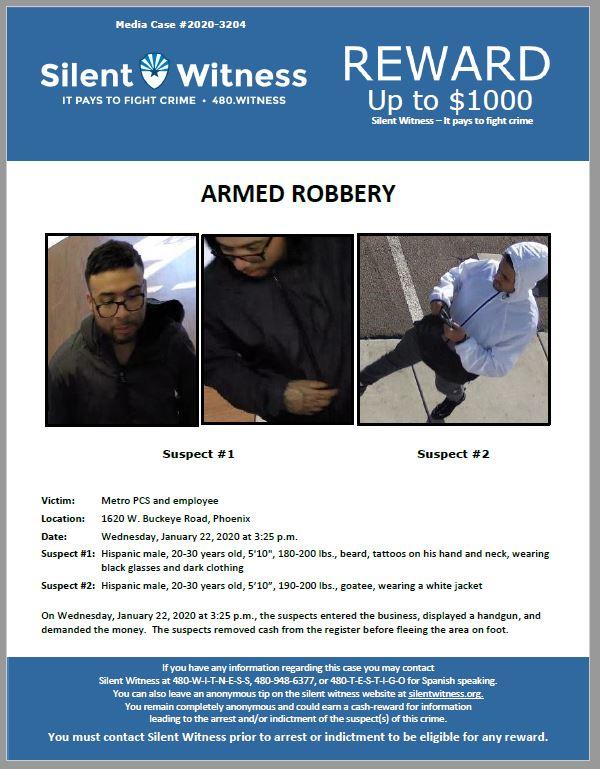 Armed Robbery / Metro PCS / 1620 W. Buckeye Road, Phoenix