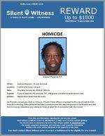 Suspect-Terence Hill / Homicide / Area of 2100 N 87th Drive