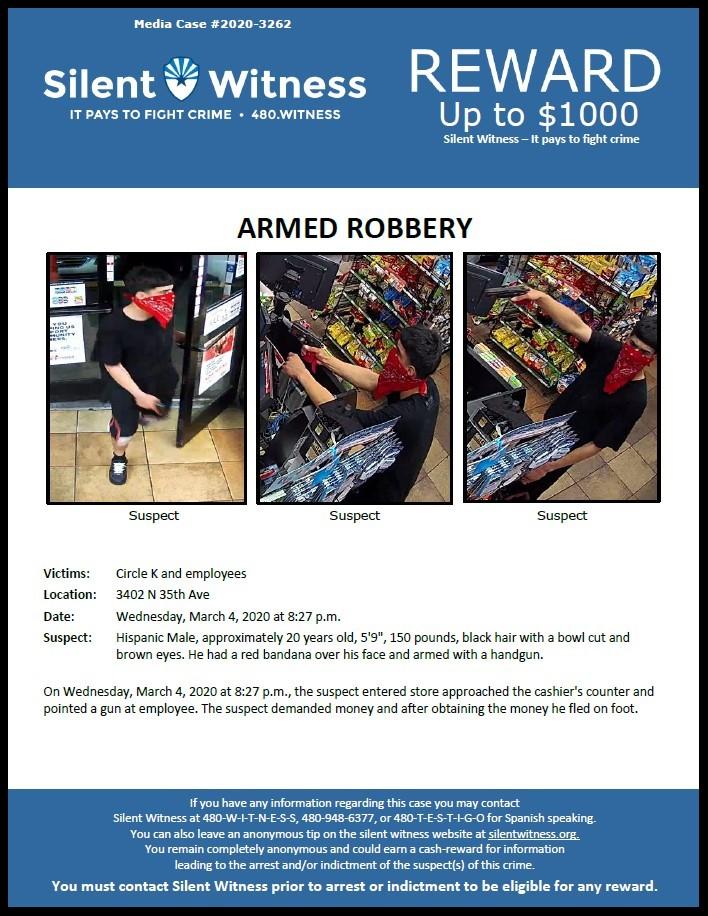 Armed Robbery / Circle K 3402 N. 35th Avenue