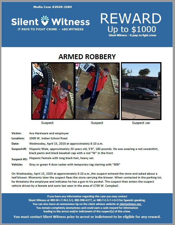 Armed Robbery / Ace Hardware / 1900 W. Indian School Road
