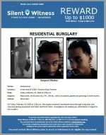 Residential Burglary / In the area of 1500 E. Romley Road, Phoenix