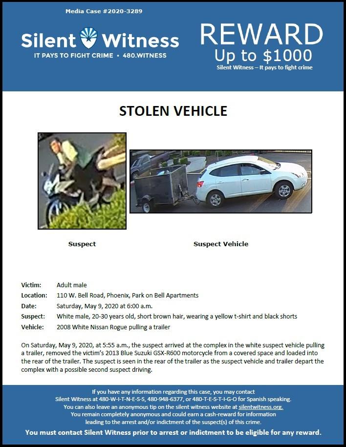 Stolen Vehicle / 110 W. Bell Rd