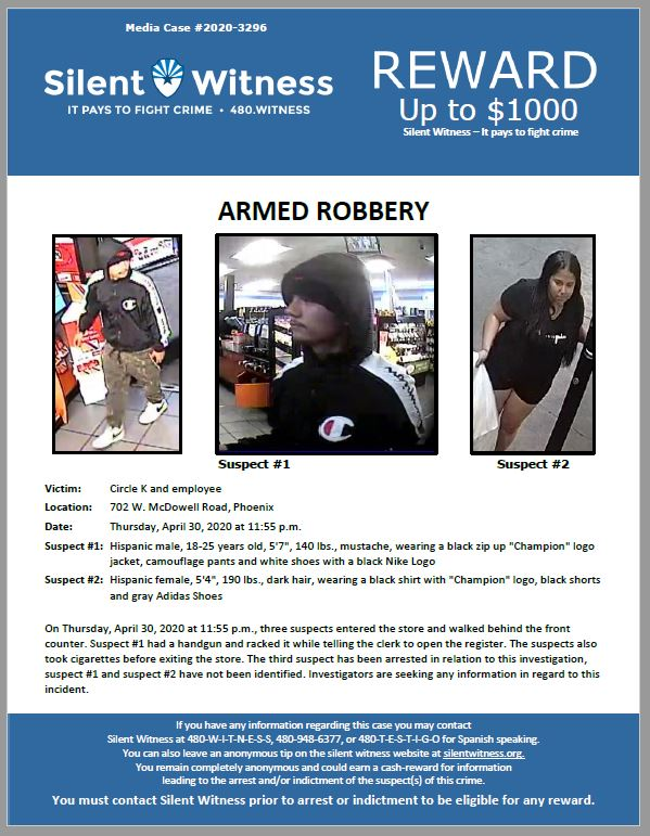 Armed Robbery / Circle K / 702 W. McDowell Road, Phoenix