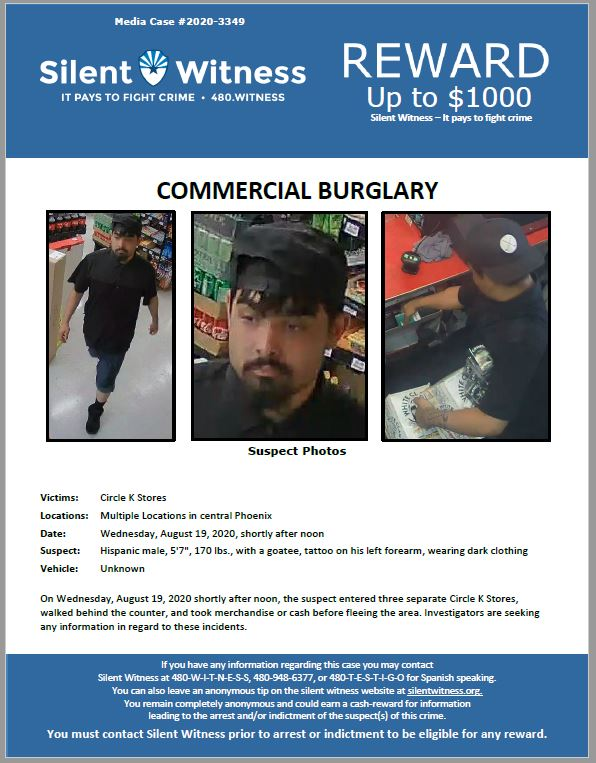 Commercial Burglary / Multiple Circle K Locations / Phoenix