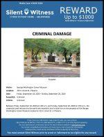 Criminal Damage / George Washington Carver Museum 415 E. Grant St.