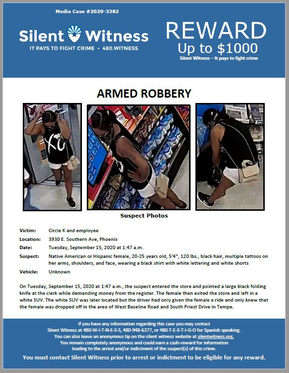Armed Robbery / Circle K / 3930 E. Southern Ave, Phoenix