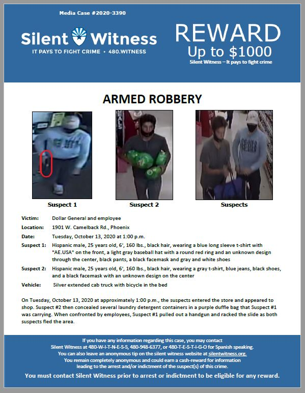Armed Robbery / Dollar General 1901 W. Camelback Rd.