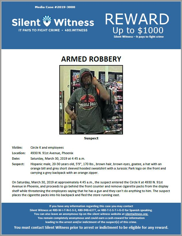 Armed Robbery / Circle K 4930 N. 91st Ave