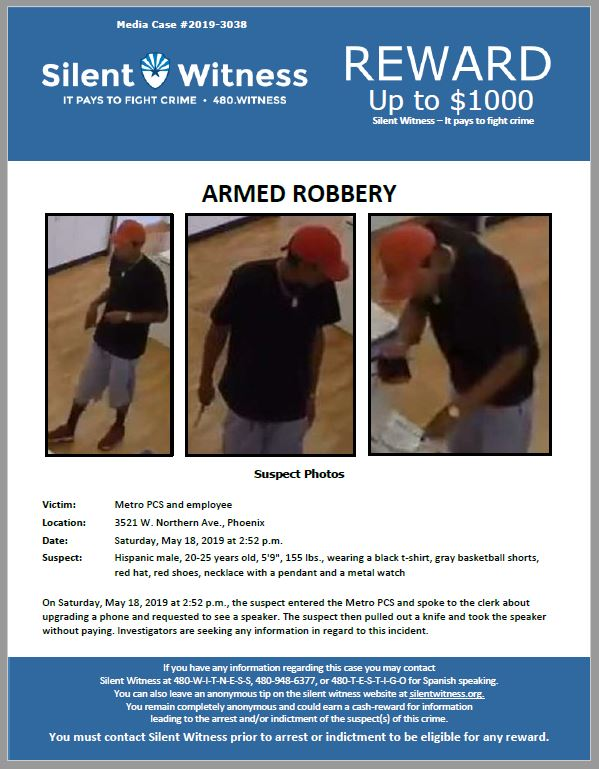 Armed Robbery / Metro PCS / 3521 W. Northern Ave., Phoenix