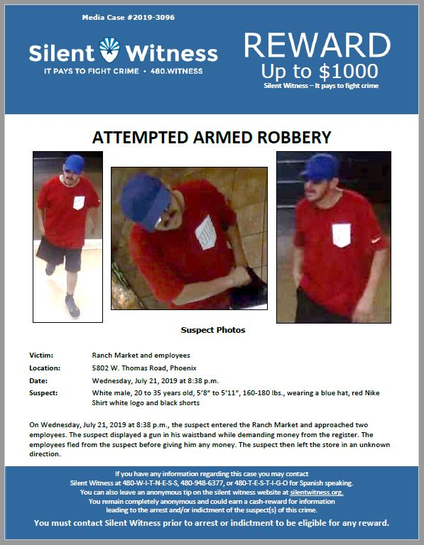 Attempted Armed Robbery / Ranch Market / 5802 W. Thomas Road, Phoenix
