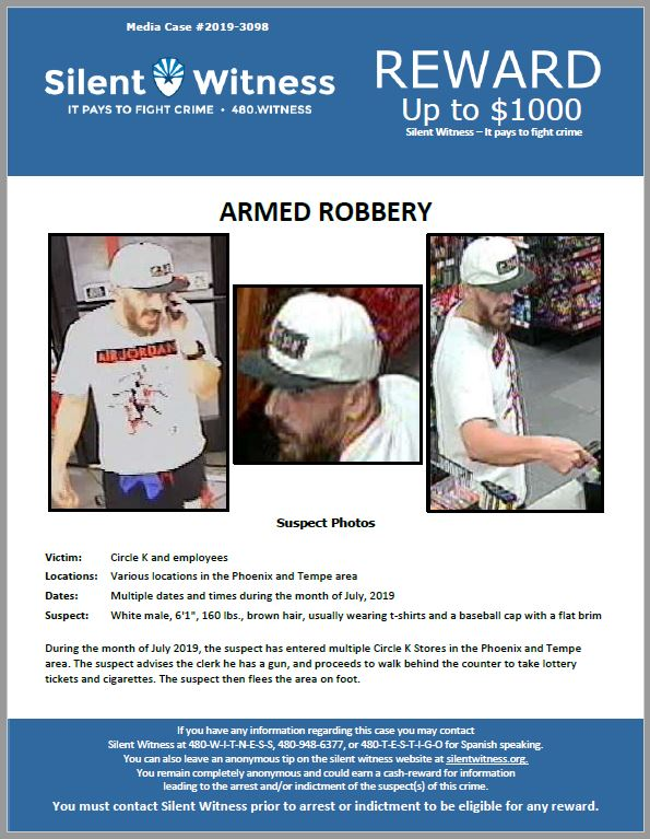 Armed Robberies / Circle K's / Phoenix and Tempe Area
