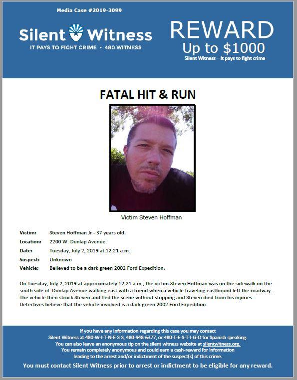 Fatal Hit and Run / Steven Hoffman Jr / 2200 W. Dunlap Avenue