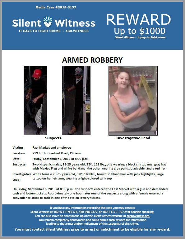 Armed Robbery / Fast Market / 719 E. Thunderbird Road, Phoenix