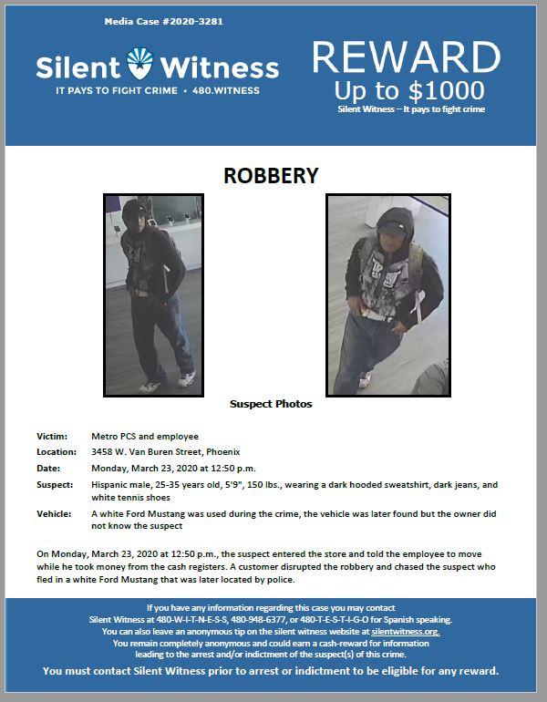 Robbery / Metro PCS / 3458 W. Van Buren