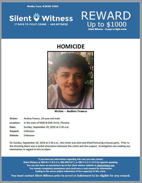 Andres Franco / In the area of 4600 N 50th Drive, Phoenix